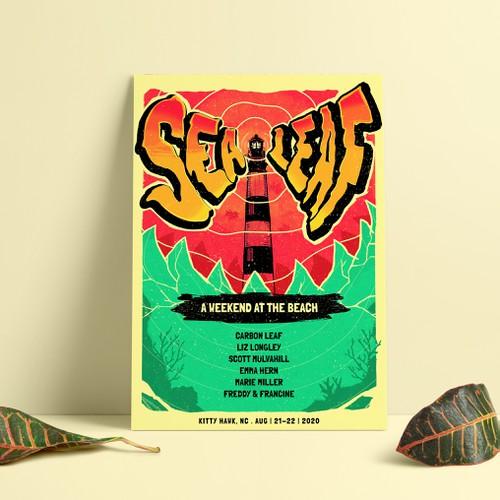 Sea Leaf Poster