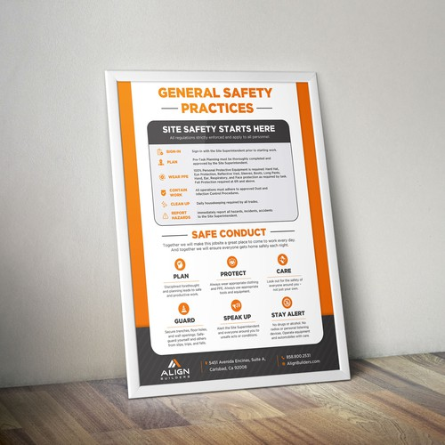 General Safety Practices Poster Design