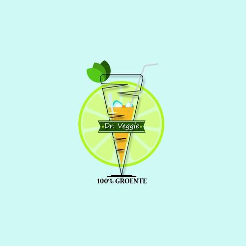 Playful logo for Dr. Veggie