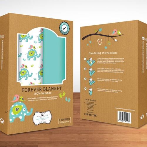 Colorful modern package: Unisex SwaddleBaby Blankets