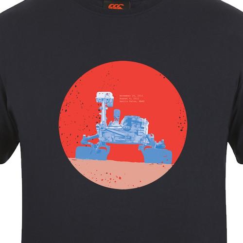 a mars rover t-shirt design