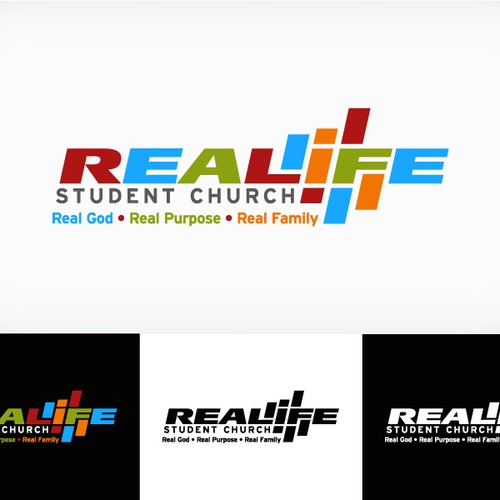 realife student church needs a new logo