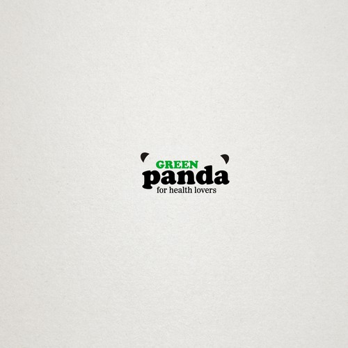 "Logo for the healthy organic food brand ""green panda"""