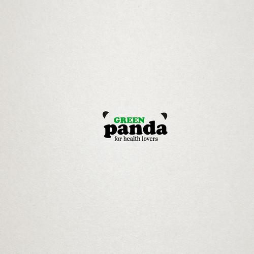 "Logo for the healthy organic food brand ""green panda"""
