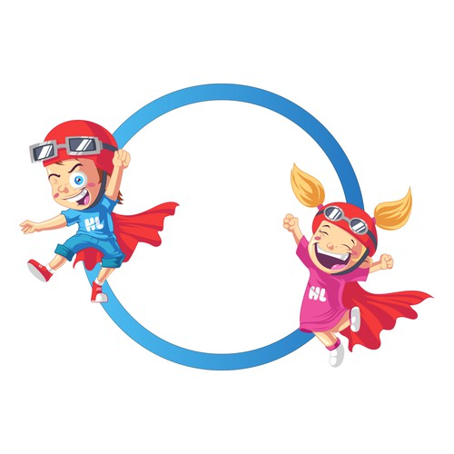 "Boy and Girl ""Hero"" Cartoon Characters for kids' motivational product"