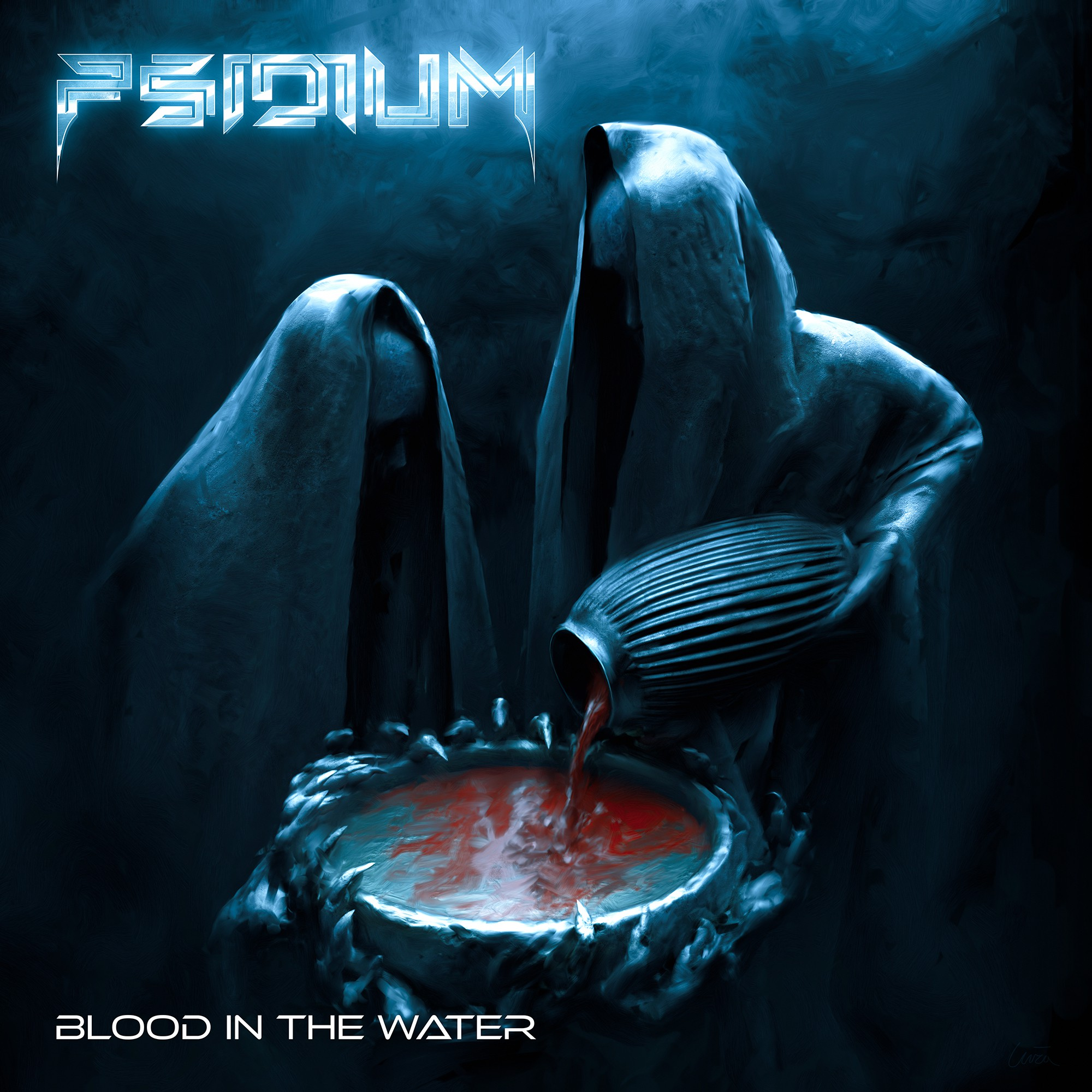 """Album cover for """"Blood In The Water"""" by Psidium"""