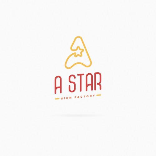 A + Star + LED