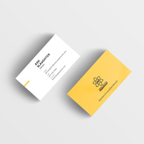 Business Card for Kinetic Supplement