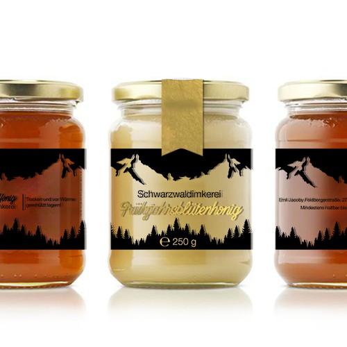 Label design for new honey brand