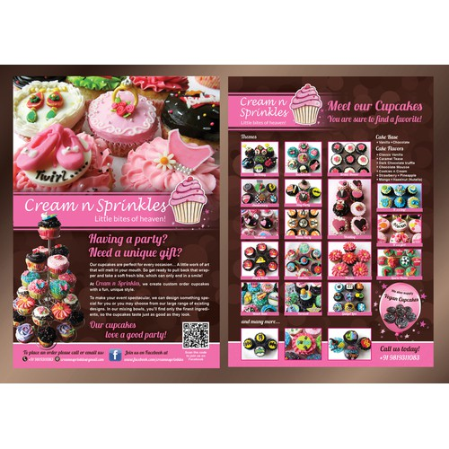 Cupcake Flyer for Cream n Sprinkles