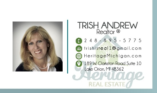 Heritage Real Estate Cards for Trish Andrew