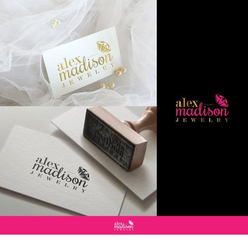 AlexMadison Jewelry Company Logo Design
