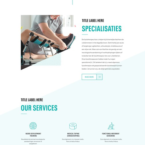Physiotherapy Website - Sport Style