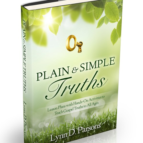 """Create a compelling book cover for """"Plain and Simple Truths"""" book for religious instruction."""