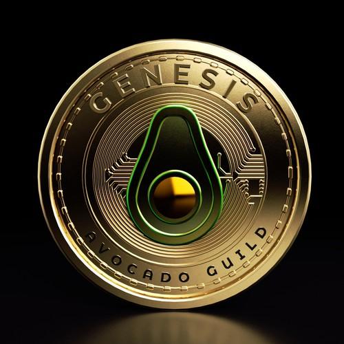 3D Crypto coin animation for NFT art