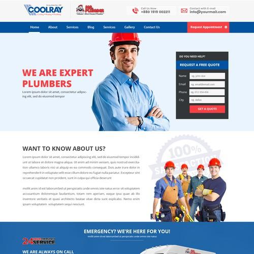 Home Service Website Design Template