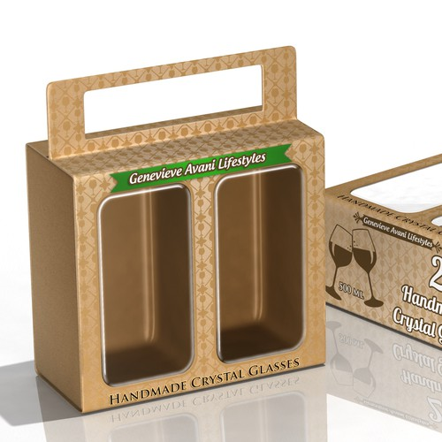 CONCEPT FOR A HANDMADE CRYSTAL GLASSES PACKAGING