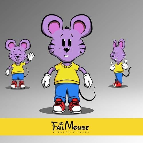 Fail Mouse Mascot