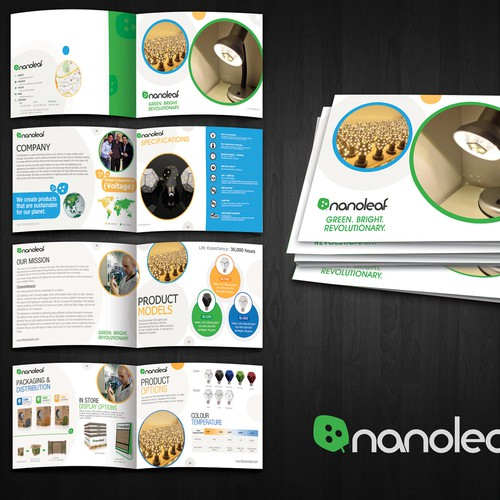 Design Nanoleaf's Brochure for the world's most energy efficient light bulb!