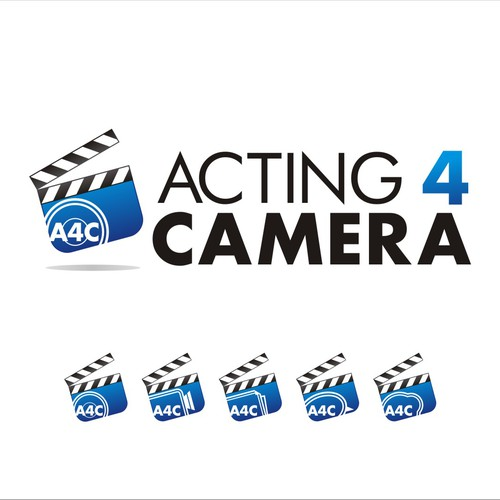 Brand new Acting 4 Camera logo. Be subtle, be wild, just don't be obvious.