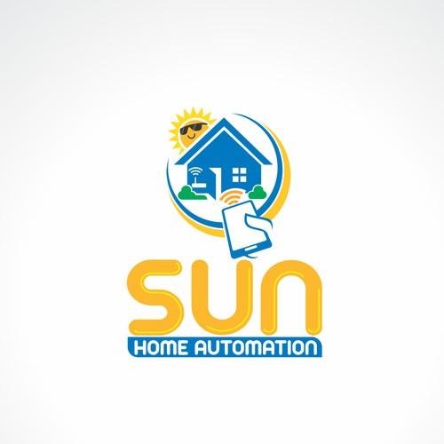 SUN Home Automation logo concept.