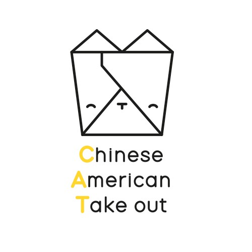 Cat Take out logo design
