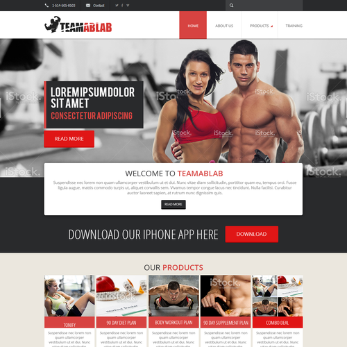 fitness web site