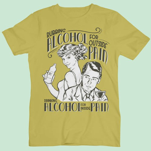 Retro Theme T-shirt design