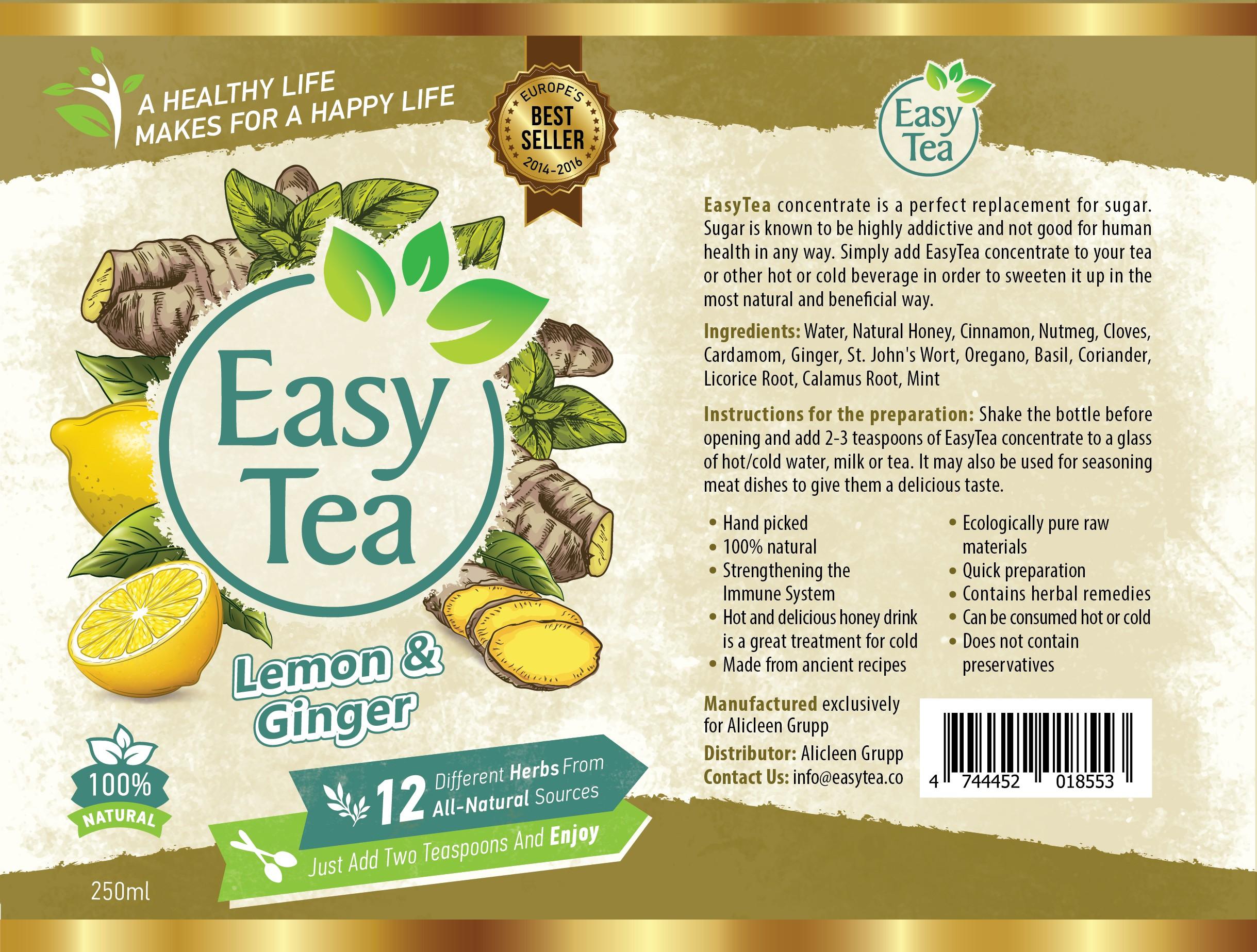 EasyTea - label designee