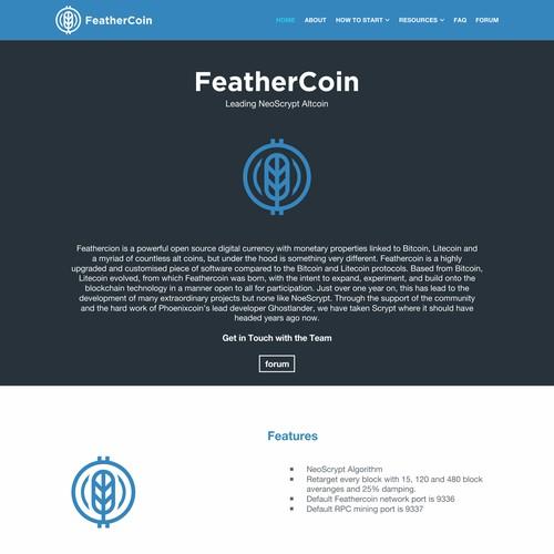 FeatherCoin company crypto Currency Foundation Logo