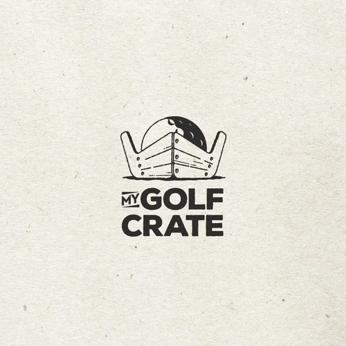 Logo for golf crate