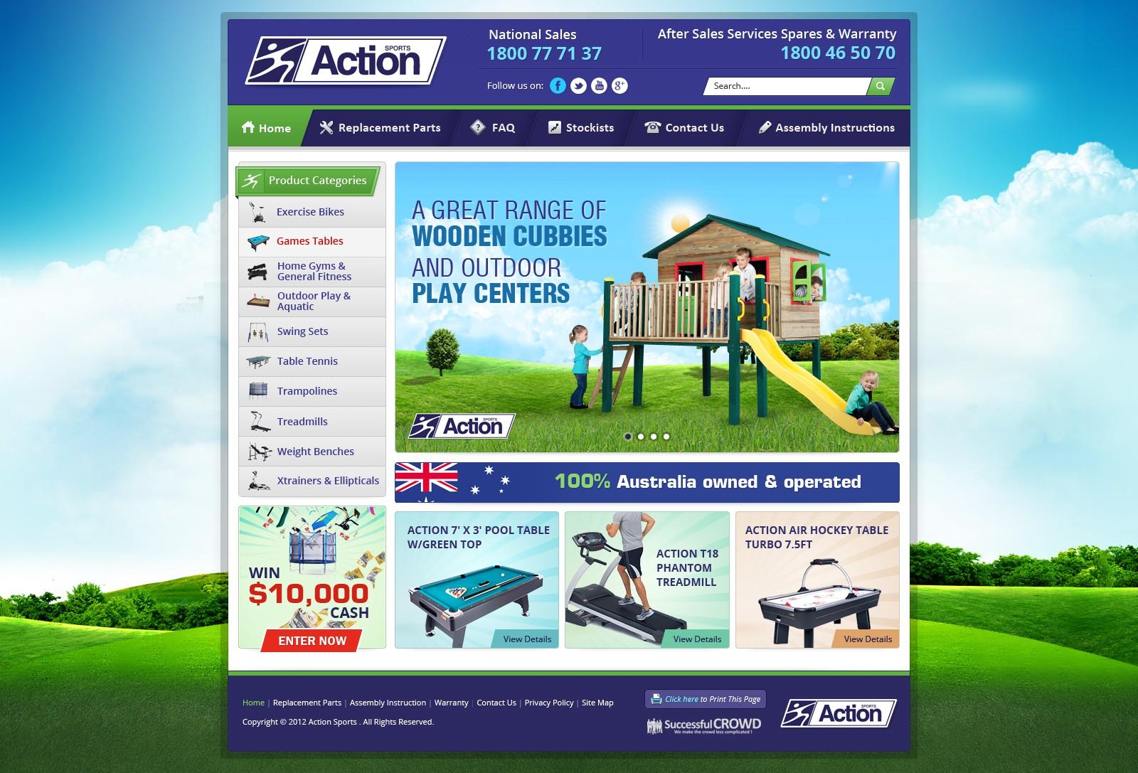 Action Sports needs a new website design