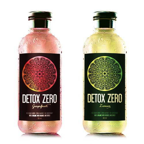 Label design for an organic juice