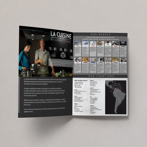Create a print ad for a multinational luxury appliance distribution group