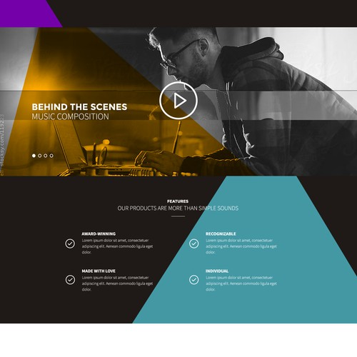 Webdesign for Audio Company