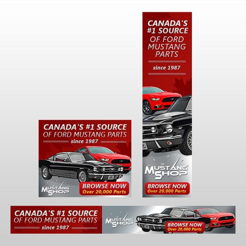 Banner Design For TheMustangShop.CA