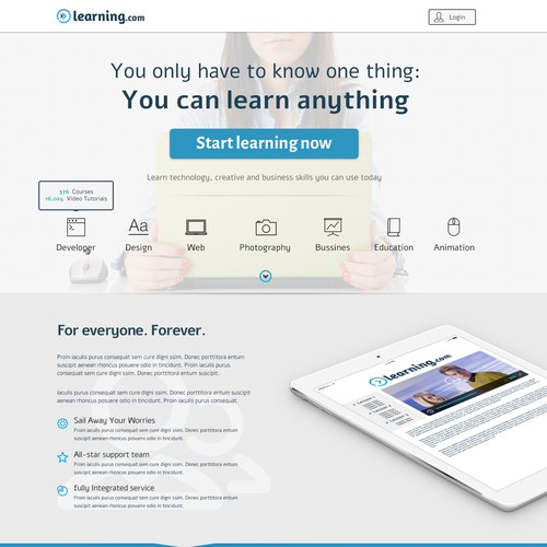 OLearning.com landing page