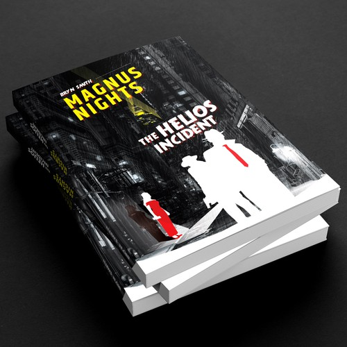 Design cover for a sci-fi noir novel