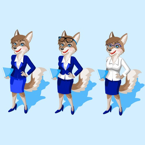 The Female Wolf Leasing Agent Mascot