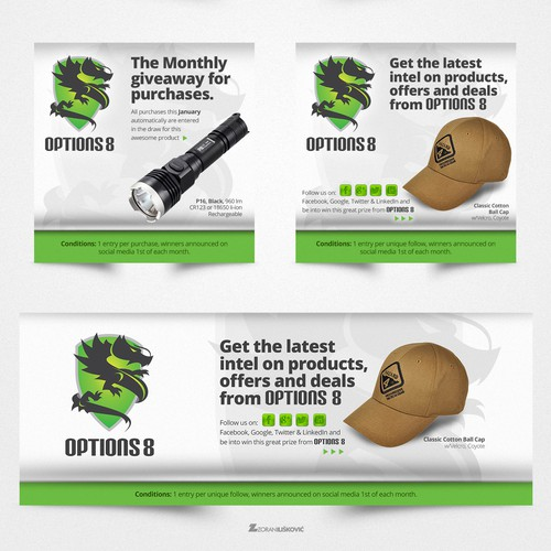 Options 8 - Social Media & Purchase Banners