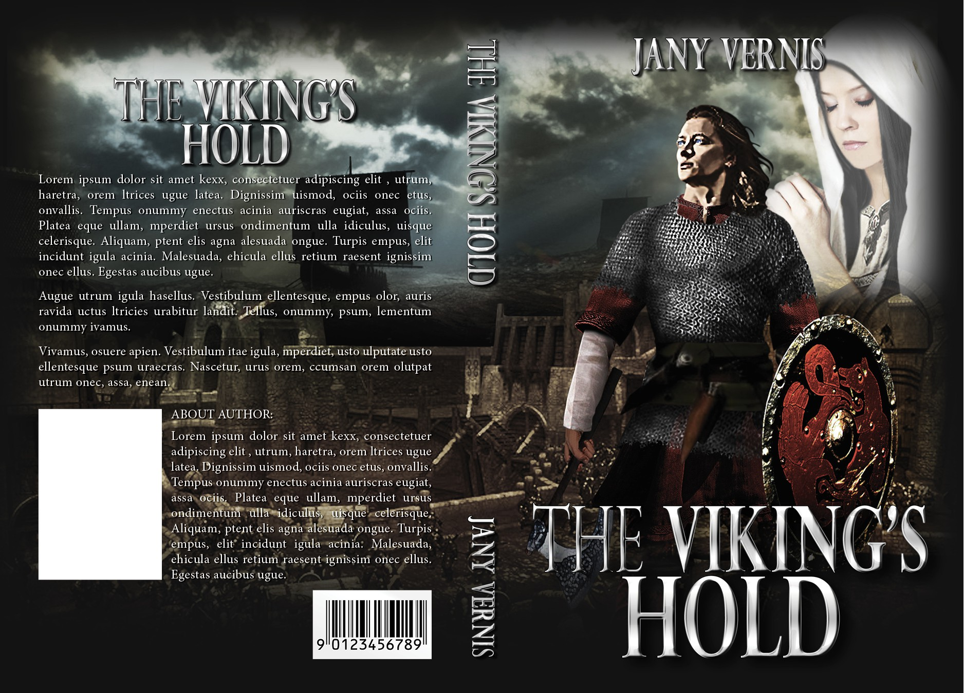 Creative covers (ebook and paper) for a Historical Viking Trilogy