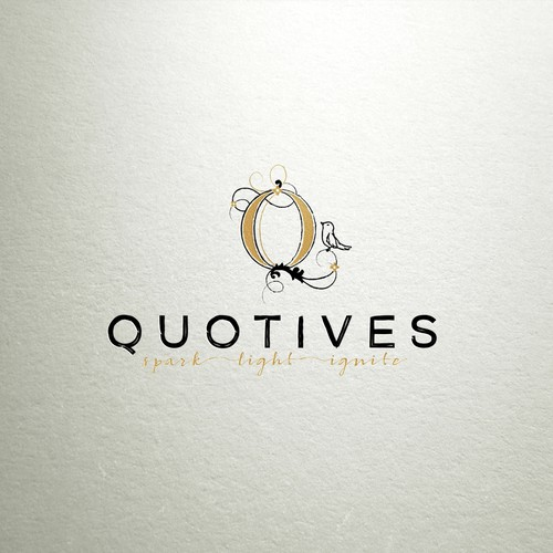 quotives logo design