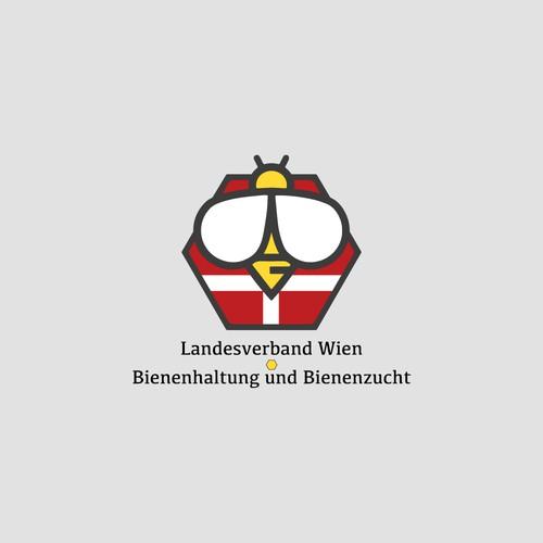 Logokonzept Bienenzucht