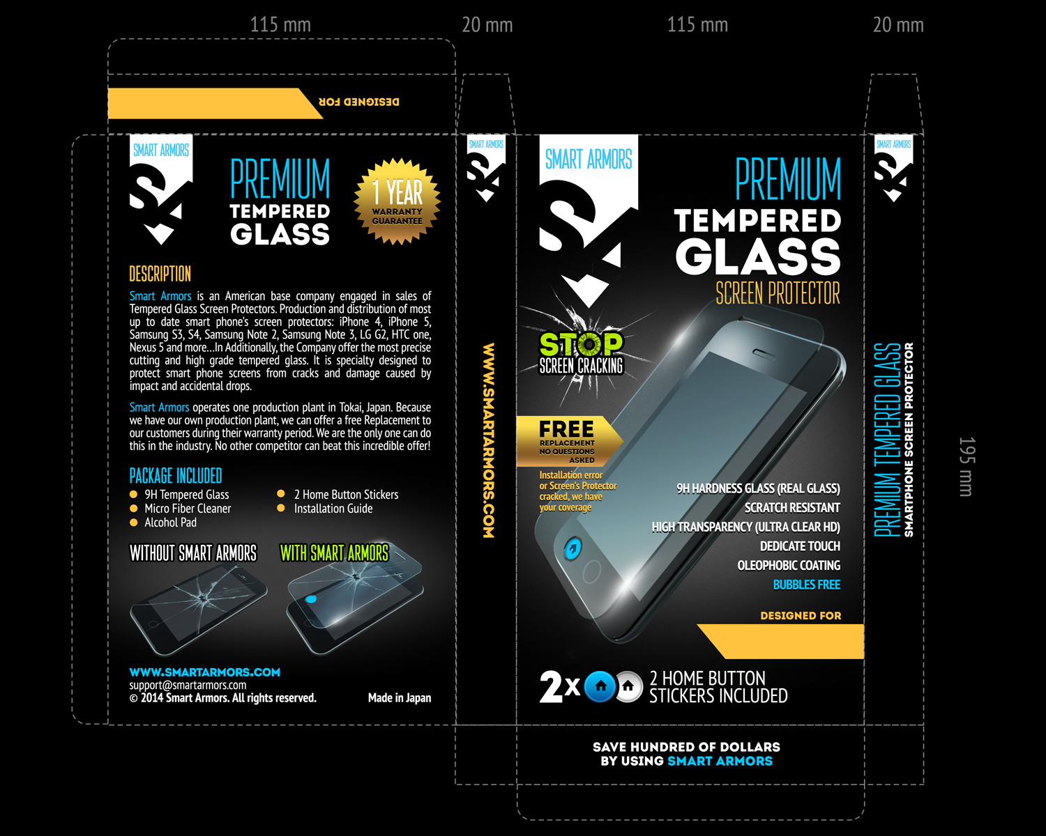 Packaging needed! Protect your smart phone screen with our great product!