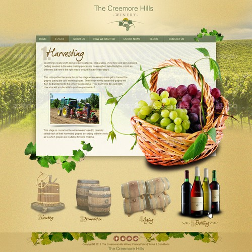 Help The Creemore Hills Winery with a new website design