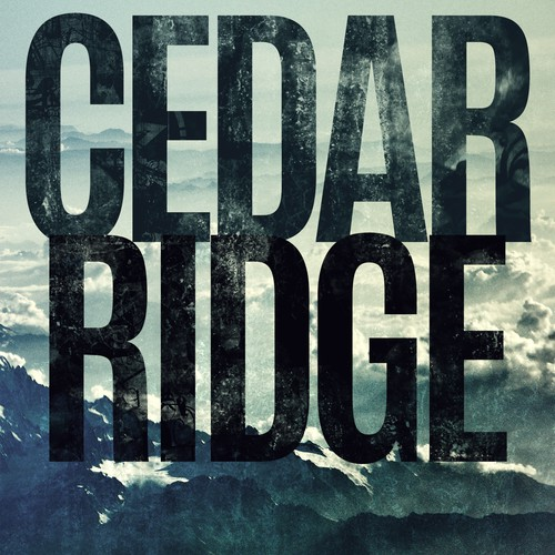 "Gritty book cover for ""Cedar Ridge"""