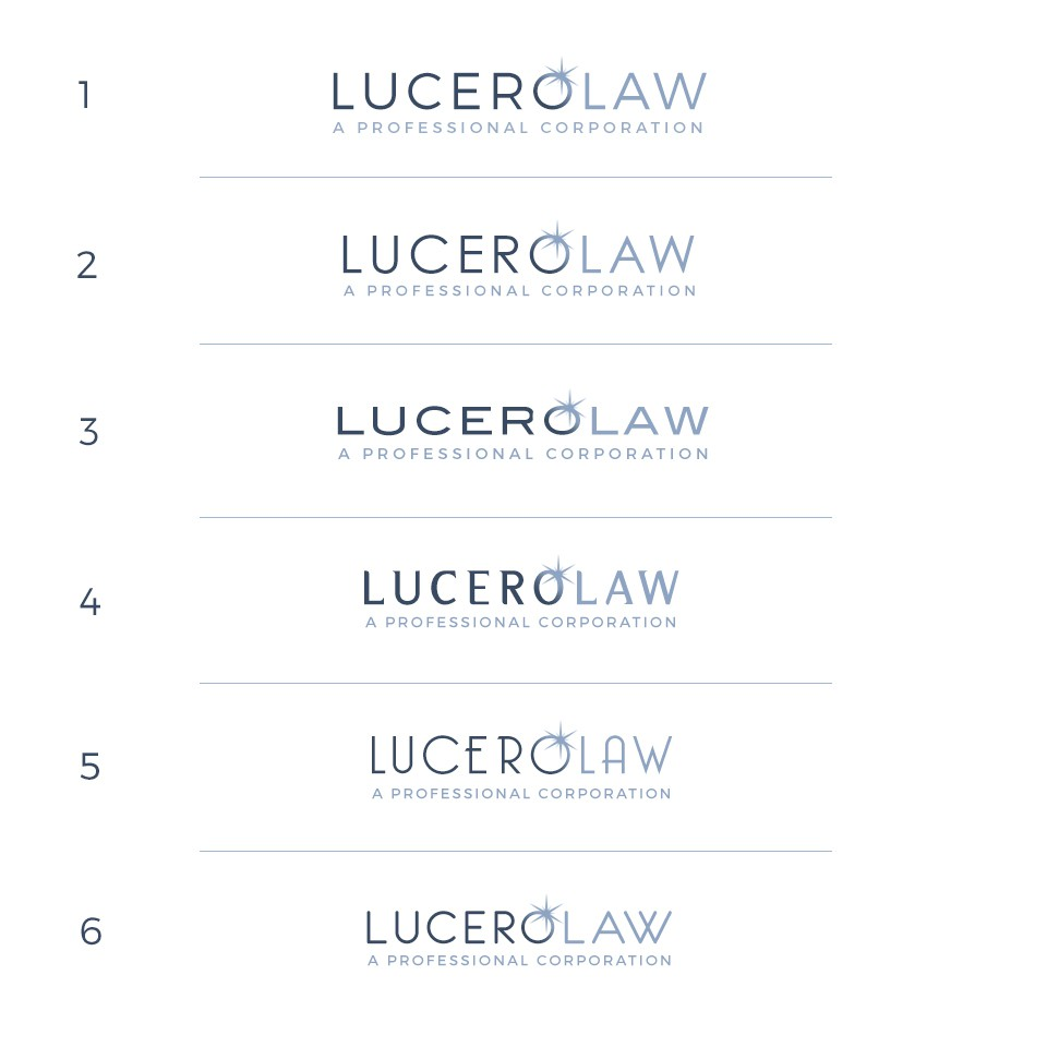 Design a logo for a modern law firm