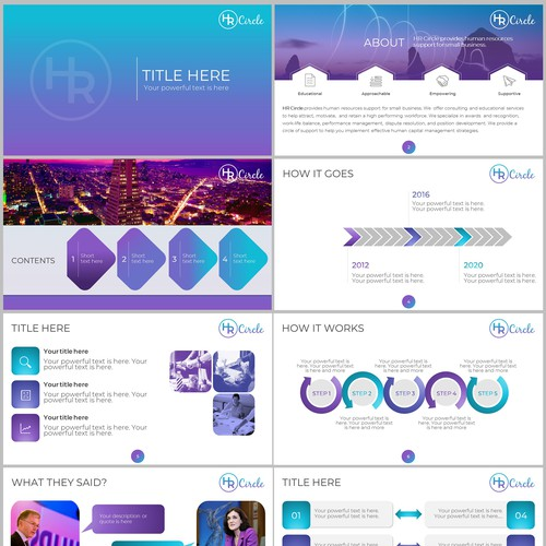 PowerPoint template for HR company