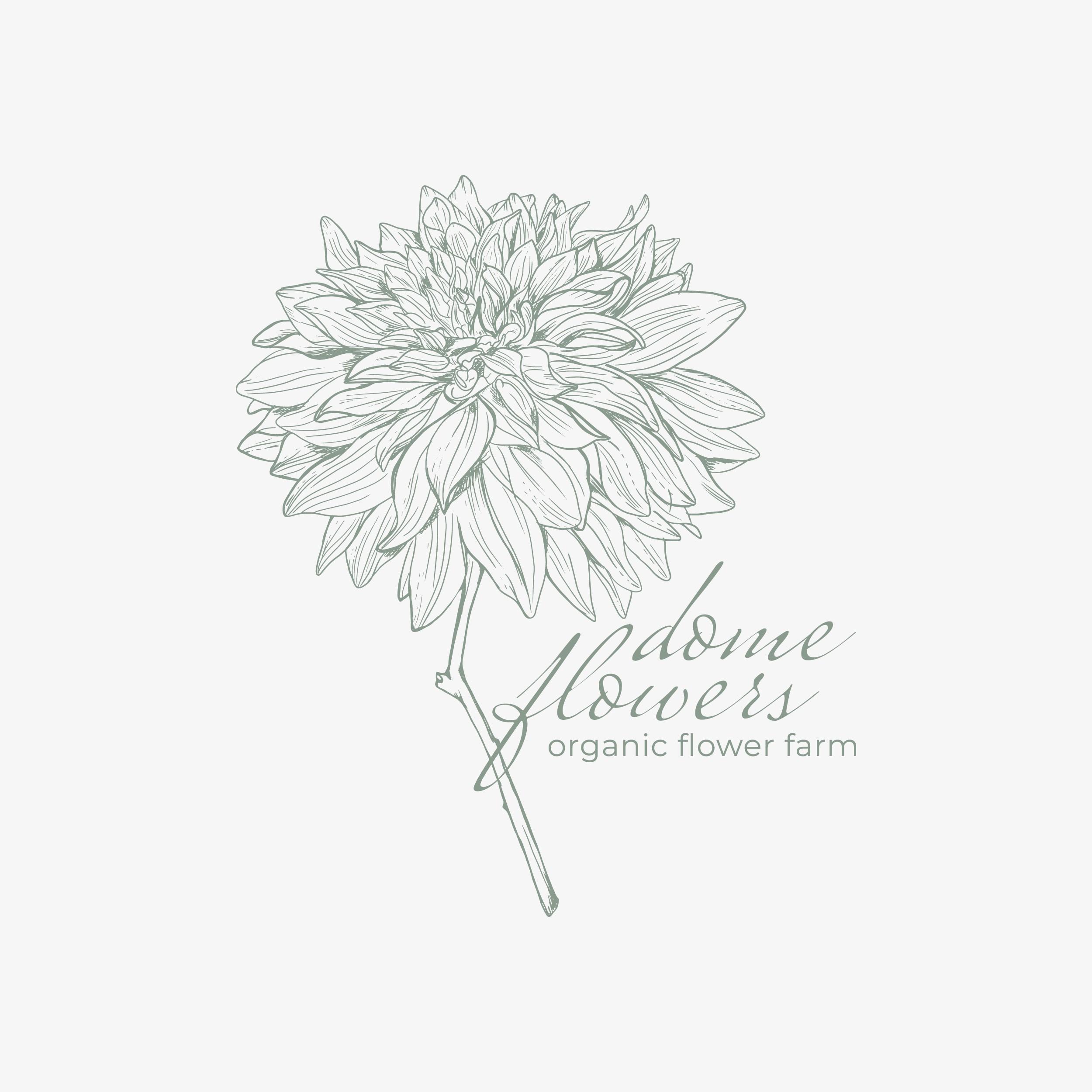 Logo for our new organic flower farm!
