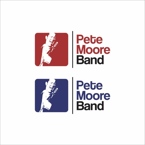 logo for pete moore band